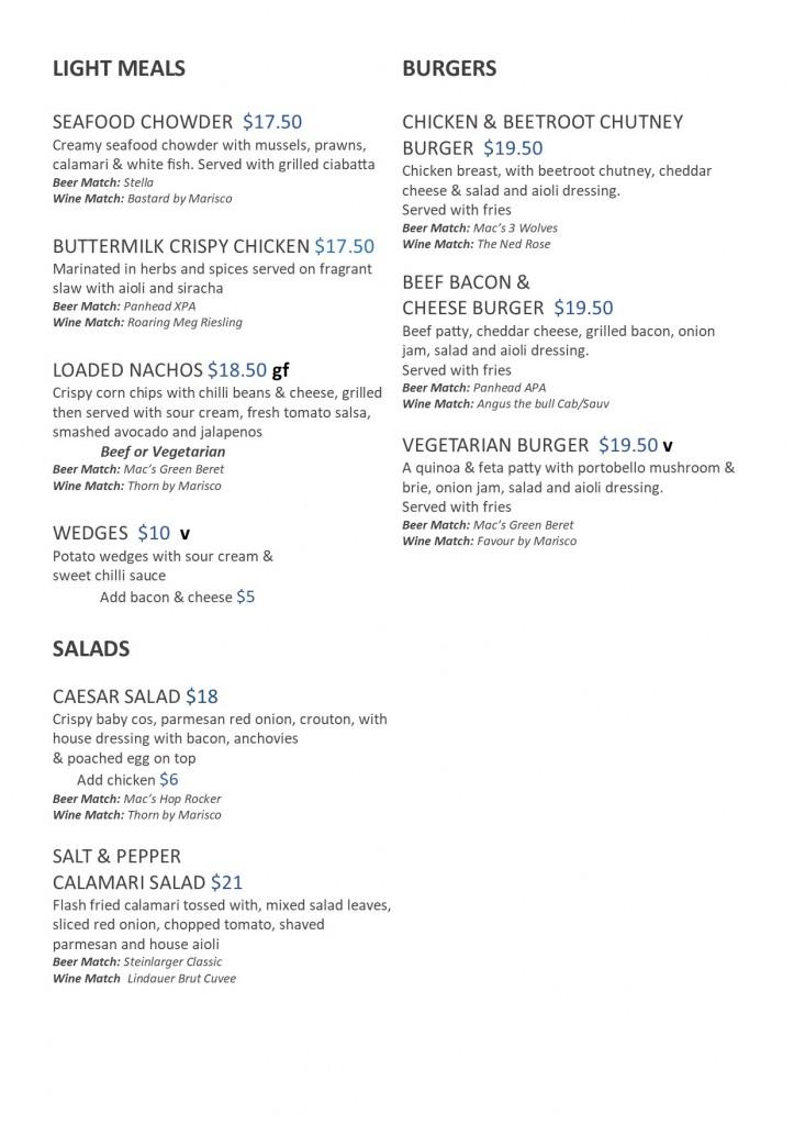 Salads Burgers 2018